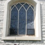 Replacing the ventilator tiles in this stained glass window