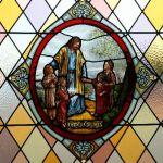 Christ & Children Stained Glass Window