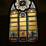 After restoring a stained glass window