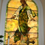 Restoration on a large stained glass memorial window